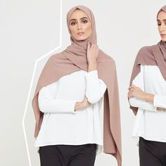 INAYAH | Achieve maximum coverage with our Linen Blend Hijabs. Available in an array of unique colours. Antler Linen Blend Hijab Bark Linen Blend Hijab www.inayah.co