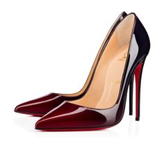 Shop Christian Louboutin So Kate Patent Degrade 120 Carmin-night Patent Calfskin - Women Shoes - from stores. High Heels Stilettos, Shoes Heels, Patent Shoes, Shoes Sneakers, Red Louboutin, So Kate Louboutin, Louboutin High Heels, Christian Louboutin So Kate, Beautiful Shoes