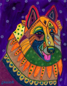 Dog Art  Belgian tervuren Dog Art PRINT Poster by HeatherGallerArt, $24.00