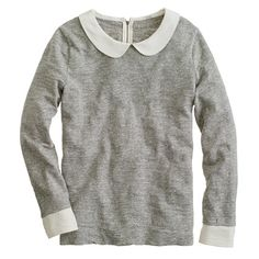 Peter Pan collar tee // I know Peter Pan collars are totally twee, but this so goddamn cute.