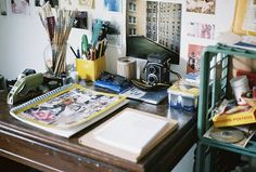 I love messy workspaces! I can't work in a clean one & I can't believe some people can. O_o