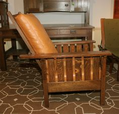L&JG Stickley Mission Reclining Morris Chair | From a unique collection of antique and modern armchairs at http://www.1stdibs.com/furniture/seating/armchairs/
