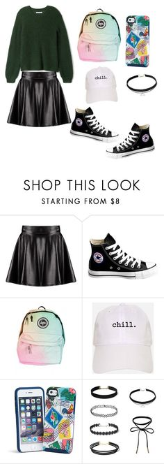 """""""SCHOOL day"""" by anna-smart-1 ❤ liked on Polyvore featuring Boohoo, Converse and Vera Bradley"""