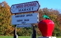 Wood Orchard Market. Get the cherry strudel - get it frozen if we have an oven in room.  Vanilla ice cream.  Cherry butter excellent.