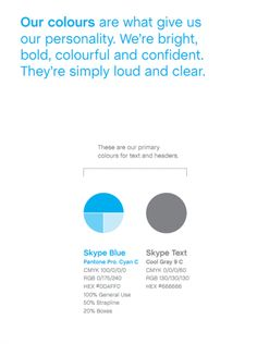 Skype Brand Identity Book and Guidelines: One of the best examples I've come across