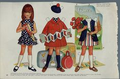 "Vintage 1970 Betsy McCall ""Likes to Travel"" Paper Doll"