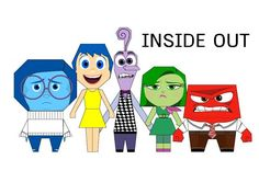 Disney: Inside Out Free Paper Toys Download