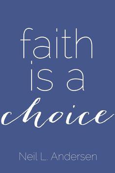 """Faith is a choice"" #ElderAndersen #ldsconf"