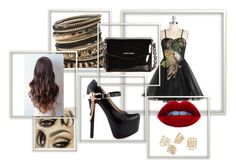 Beauty In Black by duaz on Polyvore featuring a stunning vintage dress with pops of gold