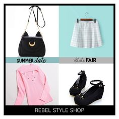 """Summer Date: The State Fair"" by rebelstyleshopofficial ❤ liked on Polyvore featuring pastelgoth, statefair, summerdate, alternativefashion and RebelStyle"