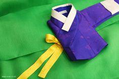 오리미한복 :: 청보라 저고리와 초록 치마, 원색의 매력이 상큼한 오리미 신부한복