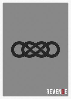 Revenge - Minimalist TV Show Poster by Marisa Passos. Serie Revenge, Revenge Abc, Revenge Tv Show, Infinity Times Infinity, Double Infinity, Infinity Symbol, Worth It, The Walking Dead, Minimalist Poster