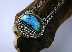 The Low Night Moon - Labradorite Sterling Silver Necklace