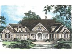 Eplans Country House Plan - A Classic Ranch Estate - 4776 Square Feet and 5 Bedrooms(s) from Eplans - House Plan Code HWEPL08400