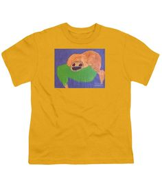 Patrick Francis Designer Youth Gold T-Shirt featuring the painting Otter 2014 by Patrick Francis