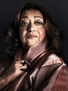 Great Portrait of architect & designer Zaha Hadid RIP