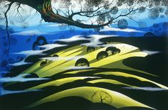 """Morning Fields"" by the artist - Eyvind Earle."
