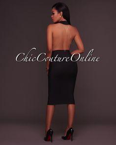 Chic Couture Online - Aubree Black Bandage Chain Back Details Bodysuit, (http://www.chiccoutureonline.com/aubree-black-bandage-chain-back-details-bodysuit/)