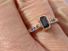 9kt Pink Gold Multi Sapphire Ladies Ring