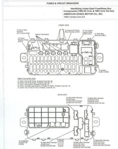 92 95 civic fuse box diagram honda tech honda forum discussion rh pinterest com 92-95 honda civic fuse box 95 honda civic fuse box location