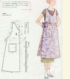 Pinafore/criss cross style apron I want to make Sewing Aprons, Sewing Clothes, Diy Clothes, Clothing Patterns, Dress Patterns, Sewing Patterns, Aprons Vintage, Vintage Sewing, Pantalon Bleu Marine