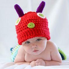 Disfraz para bebé en crochet gusanito. Divertido disfraz hecho a mano en ganchillo para recién nacido o bebé. Puedes ser una oruga o un gusanito, lo que si estamos seguros, es que con este disfraz harás una fotos preciosas a tu bebé. 29,90 €