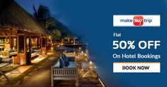 Visiting different places is a fun and exciting way to spend your vacation. Now book your travel tickets at #MakeMyTrip and get amazing discounts. Find more deals at http://bit.ly/2tCvgMB