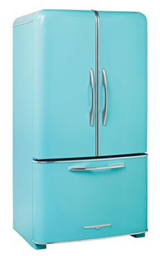 1958 24.8 Cu. Ft. Full-Depth French Door Retro Fridge* ... $5495.00.  Wow!  really pretty but much more than my purse will allow!  But fun to look at!