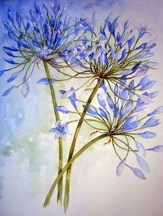 Watercolour Florals .....Yvonne Harry