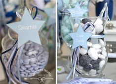 Let the stars shine! Star Baby Showers, Rock Candy, Little Star, Twinkle Twinkle, Christening, First Birthdays, Celebrations, Baby Boy, Table Decorations