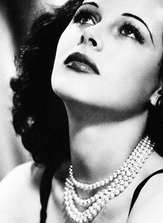 There is something piercing in her eyes! Love Hedy Lamarr, was beautiful and an inventor, super smart woman!