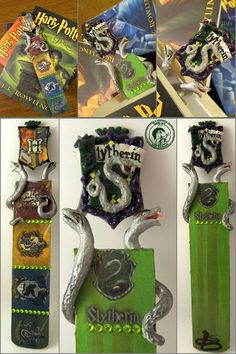 bookmark/ slytherin/ polymer clay
