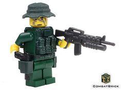 Custom Lego Army Military Minifigure USN Navy Seal Operator M4 Assault Carbine | eBay