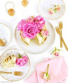 Crepe Cake with Rosewater & Marmelade Mascarpone Cream Recipe - BirdsParty.com