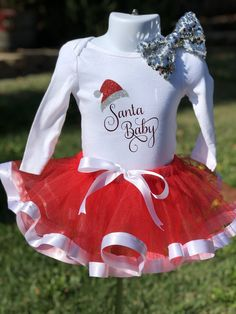 43c6c5c287f3 Excited to share the latest addition to my shop  Santa Baby Christmas tutu outfit  set baby infant
