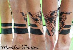 geometric tattoo ~blackwork ~ triangle