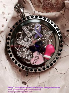 Midnight Locket, Screen, and 11 charms ONLY $99!!  $10 of each locket sold will be donated to Relay for Life Goodyear!  **SUPPORT & SPARKLE!!**