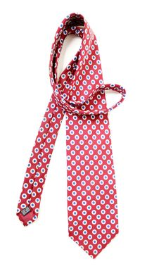 Silk tie vintage Mens neckties vintage Accessories for men clothing Made in England coral necktie polka dots by SixVintageChicks on Etsy