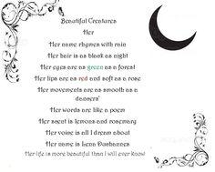 Beautiful creatures Lena poem
