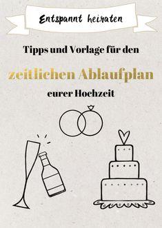 Zeitlicher Ablaufplan für die Hochzeit Vorlage