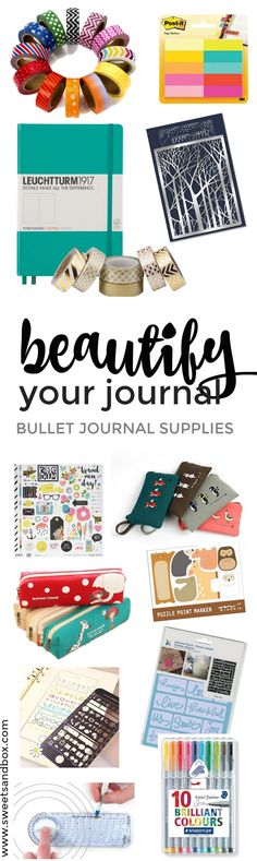 'Cute and Fun Bullet Journal Products to Beautify Your Journal...!' (via SweetSandbox)
