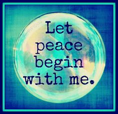 via Paying It Forward - One Day at a Time ~ Let Peace Begin With Me ...