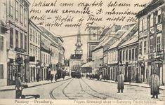 """""""Uverejňujeme najstaršie bratislavské pohľadnice z našej rodinnej zbierky."""" - Bratislavské rožky Modern Times, Bratislava, Street View, House"""