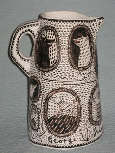 Untitled pitcher (2013) by English artist and designer Vicky Lindo. Ceramic. via the artist's blog