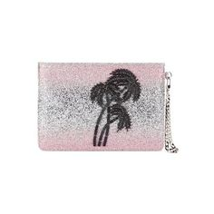 Matthew Williamson Women's Glitter Clutch Bag - Light Pink/Silver ($270) ❤ liked on Polyvore featuring bags, handbags, clutches, ombre handbag, beaded purse, light pink purse, embellished handbags and accessories handbags
