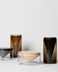 "thedesignwalker: "" AHEC at Clerkenwell Design Week - On show a collection by OKAY Studio made from five American hardwoods """