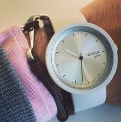 O clock great Silver Dial and White Strap