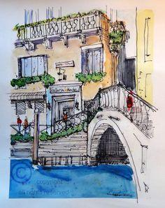 Beautiful watercolor of Venice!
