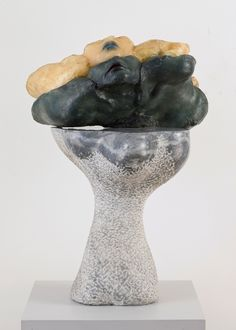 Alina Szapocznikow, Portret wielokrotny (dwukrotny) (Multiple Portrait [Double]), 1967. Colored polyester resin and granite.