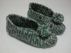 Idea con tus manos: ZAPATILLAS Tutorial mostrando como hacerlas en tejido con dos agujas!